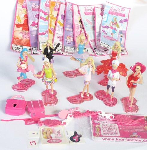 Kinder-berraschung-8-Figuren-von-Barbie-I-CAN-BE-Plus-allen-deutschen-Beipackzettel--Ei-Stze-Deutschland