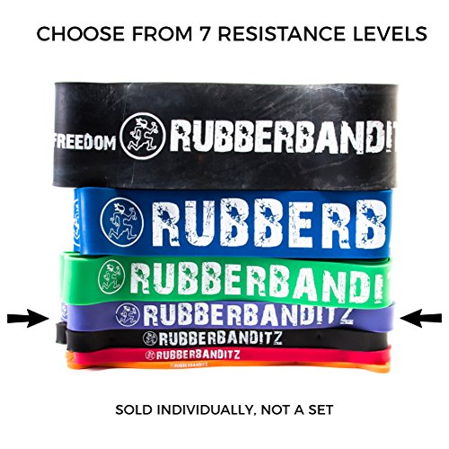 Rubberbanditz Pull Up/CrossFit Band - Robust - 40-80 lbs. (18-36 kg) - Resistance with Pullup PDF (Stand Assist)