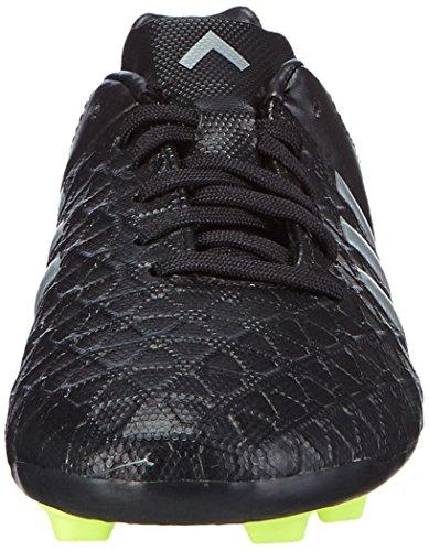 adidas Ace15.4 Fxg, Football garçon Noir (Core Black/Silver Met/Solar Yellow)