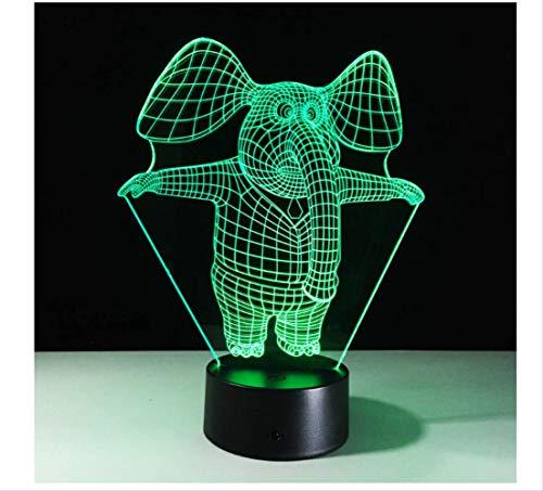 Wanjuna Luz Nocturna 3D Ilusión 3D Lámpara De Mesa Led Luz De...