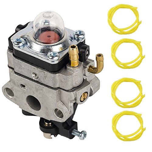 Replace Carburetor Carb with 4 fuel hose for Walbro WYL-19-1 WYL-19 WYL-229 WYL-229-1 , for Troy-Bilt TB575SS TB590BC TB146EC Shindaiwa T230 T230X T230XR-EMC Gas Trimmer by OxoxO - Gas Line Trimmer