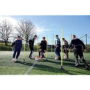Precision Fußball-Trainingsausrüstung Junior Grenze Stangen, 12 Stück