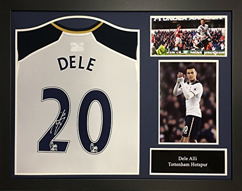Dele-Alli-signed-and-framed-Tottenham-Hotspur-football-shirt-with-COA-and-proof-Professionally-framed-and-ready-to-hang
