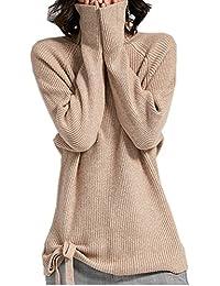 Maglione in Cashmere con Collo Alto e Moda Donna 5b385ff413fe