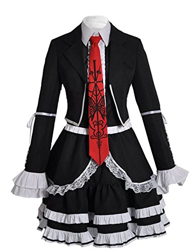 Dangan Ronpa Celestia Ludenberg Cosplay Kostüm Damen Angepasst Kleidung L (Celestia Ludenberg Kostüm)