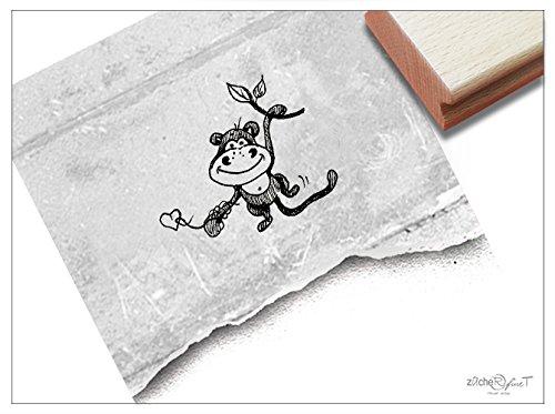 Stempel - Kinderstempel Affe Alfons Klein - Motivstempel Bildstempel Geschenk für Kinder - Kita Schule Einschulung Basteln ausmalen Deko - von zAcheR-fineT