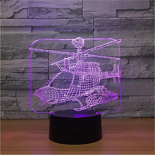 Helikopter 3D Nachtlicht Lampe Seltsame Neue Flugzeuge Nach Hause Kinder Auge Kreative Lampe Geschenk Tischlampe Kinder Geschenke