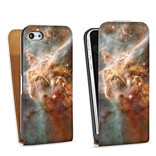 Apple iPhone 6 Housse Étui Silicone Coque Protection Étoiles Espace Motif Sac Downflip blanc