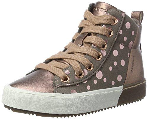 Geox Mädchen J Kalispera Girl B Hohe Sneaker, Pink (Rose Smoke), 34 EU (Patent-high-top-sneaker)
