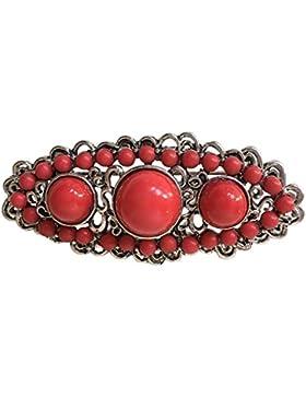 La Señorita Broche Mantones bordados Flamenco Manton de Manila rojo