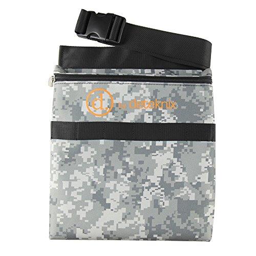 Quest Digital Camuflaje Detector de Metales Encuentra Bolso de Cintura con cinturón Encaja 48