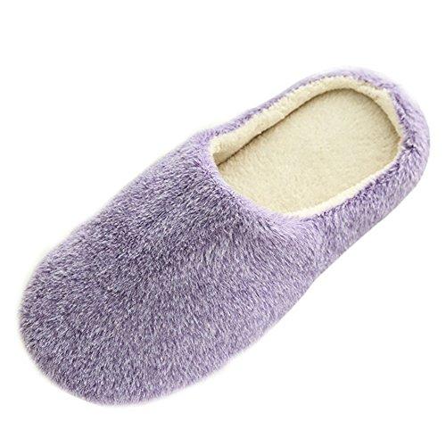 SAGUARO Unisex Pantofole Autunno Inverno Home Caldo Cotone Scarpe Peluche Morbido Casa...