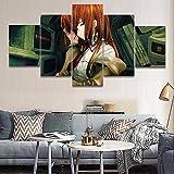FJNS Quadro Artistico 5 Pezzi Immagine Stampa su Tela Anime Computer Hacker Girl Stampa Poster HD Immagine Home Decor Gallery Art - Poster Wall Decor Gift,A,40x60x240x80x240x100x1
