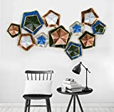 #8: Collectible India Metal Multicolor Stars Wall Mounted Art 3D Decorative Hanging Sculpture | Decor Modern Arts Living Room Bedroom Office(Size 25 x 44 Inches)