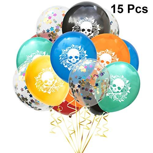 Halloween Luftballons Dekorationen Konfetti Latex Luftballons für Halloween Thema Party Dekorationen Lieferungen (5 stücke Shining Star Luftballons) ()