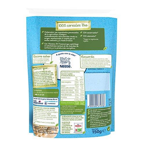 Nestlé Naturnes Bio - Paquete de 6x150g- Galletas sin gluten con miel...