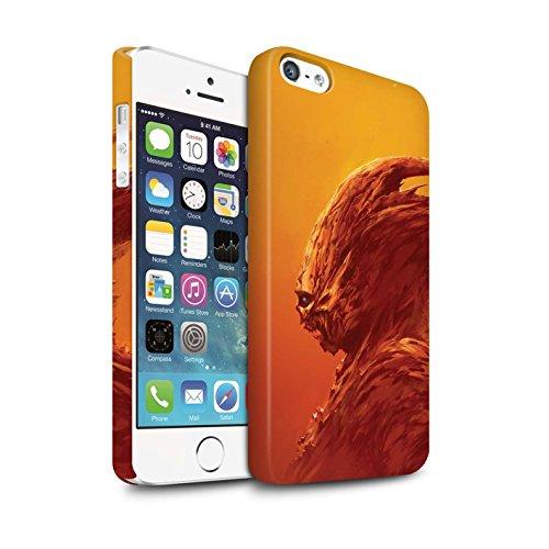 Offiziell Chris Cold Hülle / Matte Snap-On Case für Apple iPhone SE / Vampirfledermaus Muster / Wilden Kreaturen Kollektion Raubtier/Jäger