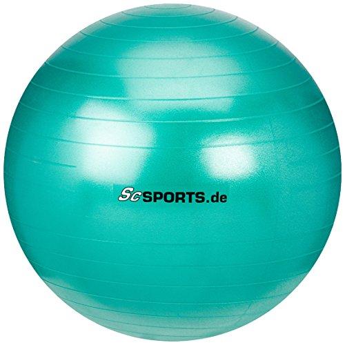 Pezzi Gymnastik Ball 75 cm Standard Sitzball Therapie Fitness Reha Anthra