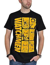 T-shirt Watchmen personnages de bande dessinée noir