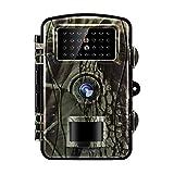 Tilview Cámara de Caza 12MP 1080P HD Cámara de Vigilancia Trail Cámara IR LEDs Visión Nocturna hasta 20M IP66 Impermeable