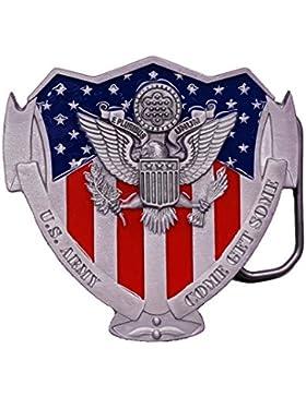 Great American - Hebilla de cinturón - para hombre gris multicolor Talla única