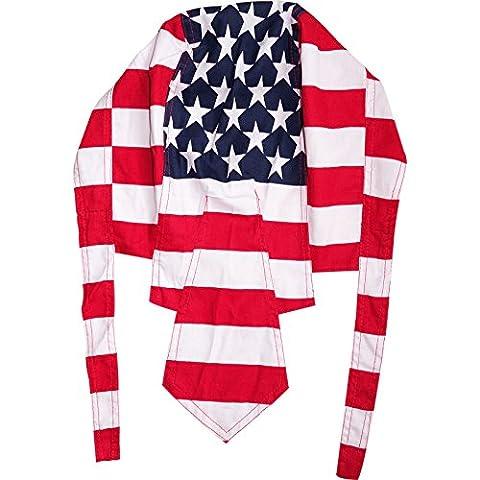 USA Flag United States Bandana Durag Motorcycle Cycling Bicycle Biker