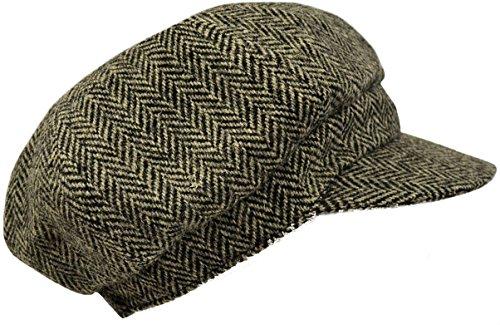 Harris Tweed Mütze für Männer und Frauen One size (Schwarz)