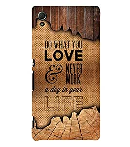 Marvellous Love Quote 3D Hard Polycarbonate Designer Back Case Cover for Sony Xperia Z4 :: Sony Xperia Z4 E6553