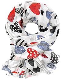 Soul-Cats® neck cloth heart red blue white black shawl shawl