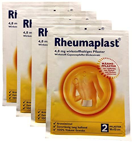 4 x Rheumaplast® Wärmepflaster 2er Pack, 4 Packungen mit 2 Stück