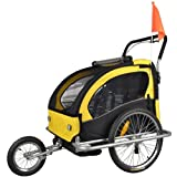 Children Bicycle Trailer & Jogging Stroller Combo Yellow/BLACK 502-03 JBT03A-D03
