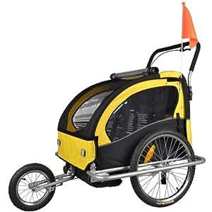 Children Bicycle Trailer & Jogging Stroller Combo Yellow/BLACK 502-04