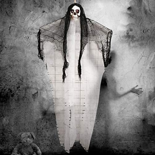 Eliasan Tragbare Halloween Hängen Dekor Scary Gaze Schädel Geist Hängen Requisiten Anhänger für Haus Bar Home Garden Party Indoor 19,7x39,4 Zoll -