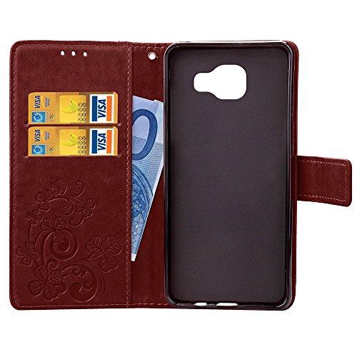 Cuitan PU-Leder Schutzhülle Hülle Handyhülle mit Lanyard für Apple iPhone 6 / 6S, Flip Wallet Case Cover Telefonkasten Handykasten Mappen-Kasten mit Kartensteckplätze und Magnetverschluss - Blau Braun