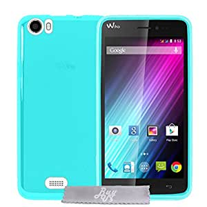 Coque Gel transparent Turquoise Wiko Lenny + Stylet + 3 Films OFFERTS