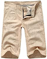 M&A Herren klsssische Shorts aus Leinen - Regular Fit