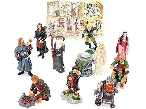 Kinder Überraschung Children Surprise, All 10 Figures of The Lord of the Rings I with a BPZ (komplettsätz