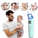 INTEY Aspirador Nasal del bebé para alivio de la congestión nasal-Limpiador nasal Aspirador Nasal Bebe Electrico(Batería Oferta)-Kit nasal ideal para-La elección inteligente de las mamás y papa