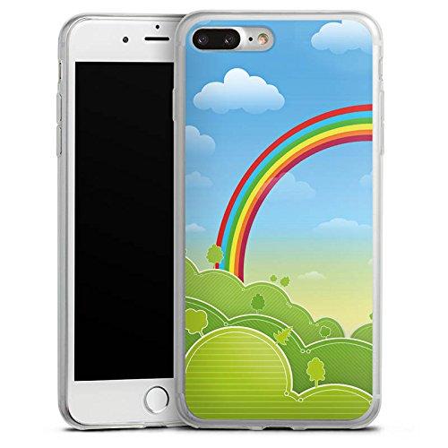 Apple iPhone 8 Plus Slim Case Silikon Hülle Schutzhülle Regenbogen Comic Wald Silikon Slim Case transparent