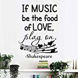yaoxingfu Stickers muraux Devis Si la Musique Soit la Nourriture de l'amour Vinyle...