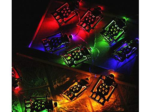 LED Lichterkette Muslim Eid Decor Lights LED-Lichterkette AA Batterie betrieb und 2 Programm Auf 5 Meter Silberdraht für Party, Garten, Weihnachten, Halloween, Hochzeit, Beleuchtung Deko (Multicolor)
