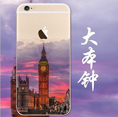 iPhone 5s Cover, MAOOY Bellissimo Paesaggio Modello Design Case per iPhone SE, Flessibile Ultra Sottile Leggero Bumper Copertura di Soft Gomma Sveglio Cristallo Gel Antiurto Protettiva per 4.0 Apple  Big Ben