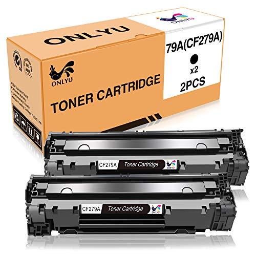 Cartucho de Tóner HP CF279A 79A Compatible con HP Laserjet Pro M12 M12a M12w MFP M26A M26n Impresora 2 Paquete (2Negro)