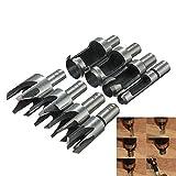 Drill Bit 8pcs Set di punte per trapano in legno dritto/conico by YMWLKE