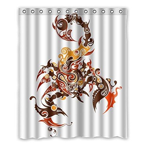 3cm (152,4x 182,9cm) Badezimmer Dusche Vorhang, Scorpion Puzzle Blickdicht Polyester Wasserdicht Mehltau Duschvorhang Stoff Custom ()
