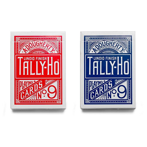 6-decks-of-cards-tally-ho-fan-back-red-and-blue-tally-ho-kartenspiel-zaubertricks-und-magie