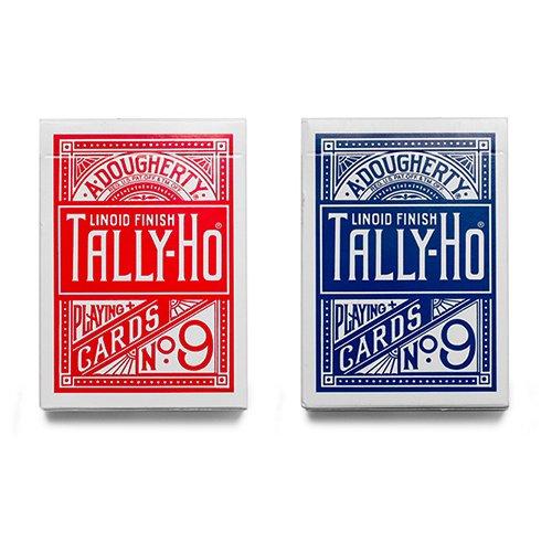 2-due-mazzi-di-carte-tally-ho-fan-back-dorso-rosso-e-blu-mazzi-tally-ho-carte-da-gioco