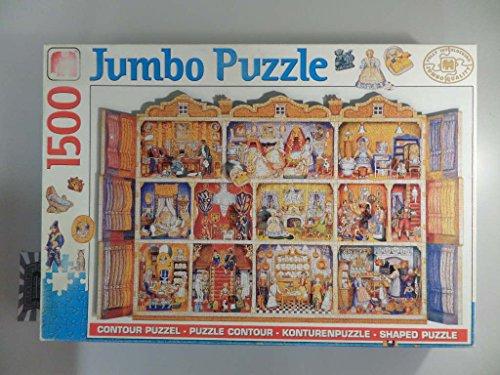 Konturenpuzzle - Puppenhaus [1500 Teile Puzzle].