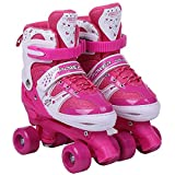 Kinderrollschuhe, Rollerblades Anfänger Verstellbare Größe Herren Und Damen,Pink,35to38yards