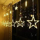 Led String Lights Fairy Five Pointed Star Shape Curtain Lights Ramadan Gift